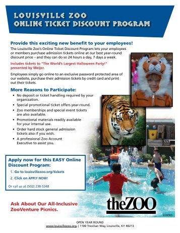 ONLINE TICKET DISCOUNT PROGRAM LOUISVILLE ZOO
