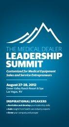 LEADERSHIP SUMMIT - Medical Dealer