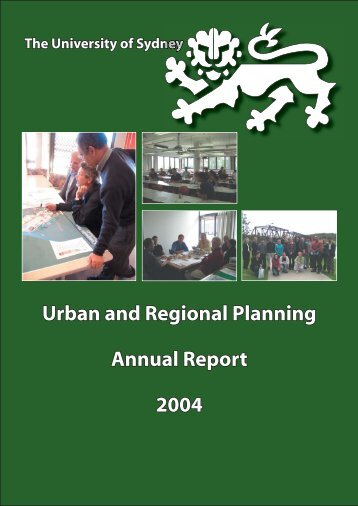URP Annual report - Faculty of Architecture, Design and Planning