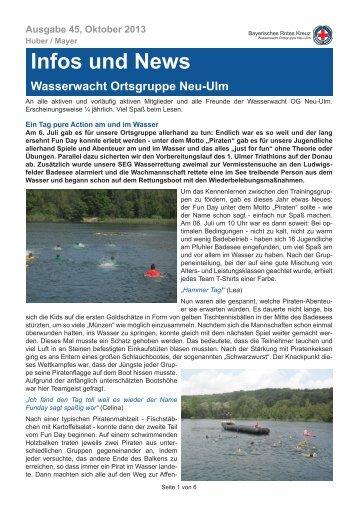 Infos und News 45 - Wasserwacht Ortsgruppe Neu-Ulm