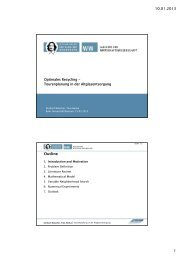10.01.2013 1 Outline - Institute of Management (ifu) - Ruhr ...