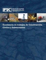 Excelencia en trabajos de Construcción Civiles y Subterráneos