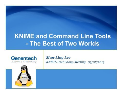 KNIME and Command Line Tools - The Best of Two Worlds