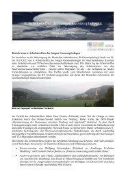 Bericht - Deutscher Arbeitskreis für Geomorphologie