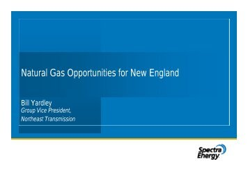Natural Gas Opportunities for New England