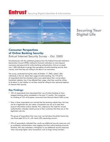 Online Banking Security Survey - Entrust