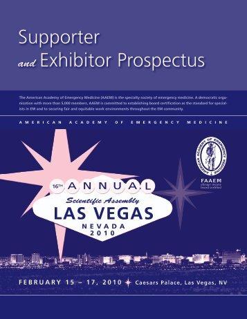 Supporter and Exhibitor Prospectus - AAEM