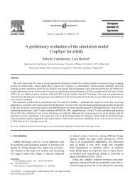 A preliminary evaluation of the simulation model ... - ResearchGate