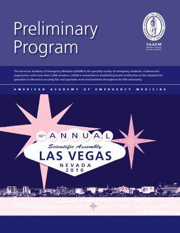 Preliminary Program - AAEM
