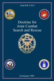 JP 3-50.2 Doctrine for Joint Combat Search and Rescue - Artificial ...