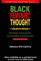 Knowledge, Consciousness, and the Politics of ... - Feminish