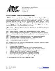 Airport Baggage Handling Systems & Terminals - ARC International ...
