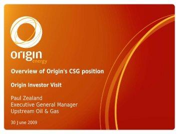 CSG position presentation - Origin Energy