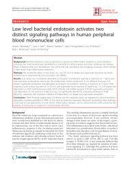 Low level bacterial endotoxin activates two distinct signaling ...