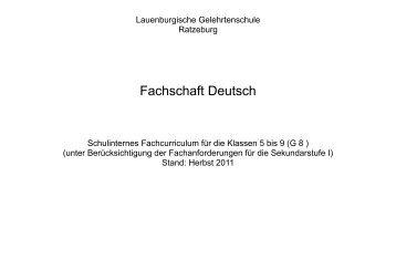 Schulinternes Fachcurriculum - Lauenburgische Gelehrtenschule ...
