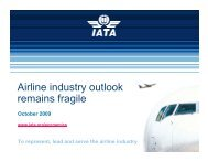 Airline industry outlook remains fragile