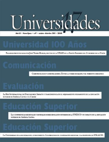 Revista Universidades Número 47, Octubre-Diciembre de ... - udual