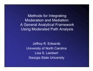 Methods for Integrating Moderation and Mediation - The University ...