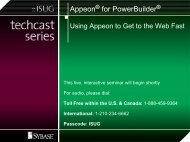 Appeon for PowerBuilder - Sybase