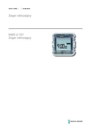 Zegar odliczający 6465 U-101 Zegar odliczający - BUSCH-JAEGER ...