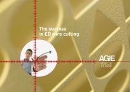 Agiecut Classic V Series Technical Specifications