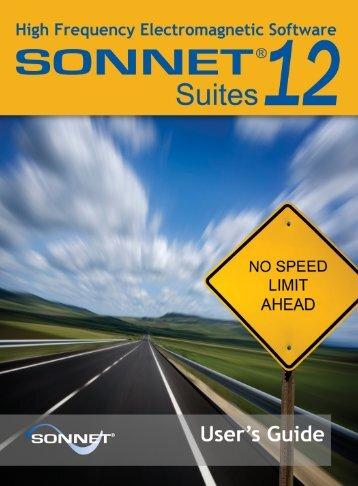 Sonnet User's Guide - Sonnet Software