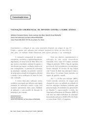 vacinação emergencial de bovinos contra a febre aftosa