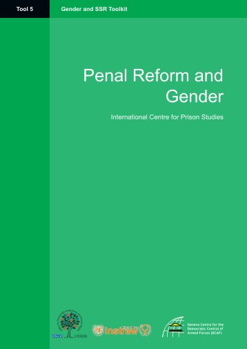Penal Reform and Gender (Tool 5)