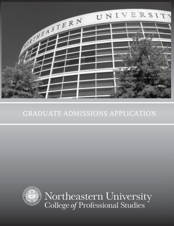 graduate admissions application - Northeastern University College ...