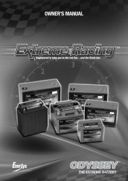 OWNER'S MANUAL - Odyssey Batteries