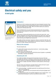 Electrical safety and you: A brief guide (INDG231(rev1)) - Health and ...