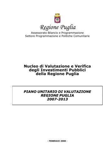 Piano Unitario di Valutazione 2007-2013 - Rete Pari Opportunita