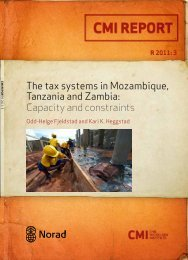 The tax systems in Mozambique, Tanzania and Zambia ... - CMI