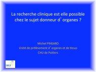 Peut-on faire de la recherche clinique chez les donneurs d ... - SRLF