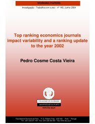 Top ranking economics journals impact variability and a ranking ...