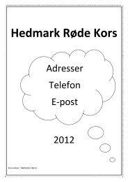 Adresseliste-telefon-epost Hedmark 2012 - Røde Kors