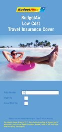 BudgetAir Low Cost Travel Insurance Cover - Blue Insurances