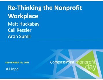 Rethinking the Nonprofit Workplace PP.pdf - CompassPoint ...