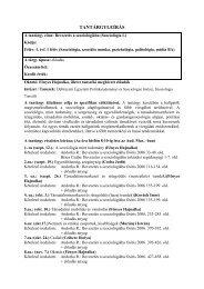 Bevezetés a szociológiába (Szociológia I.)