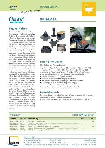 SKIMMER - Kresko GmbH - Fachhandel für Gartentechnik