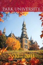 GRADUATE CATALOG - Park University