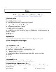 Forms - Regence BlueShield