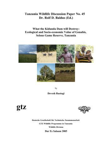 Ecological and Socio-economic Value of Gonabis, - wildlife-baldus ...