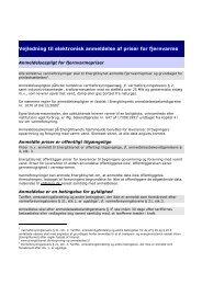 Vejledning til indberetning af priser UDGAVE juli 2007 - Energitilsynet