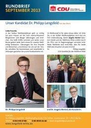 RUNDBRIEF SEPTEMBER 2013 - CDU Ortsverband Bernauer Straße