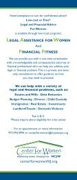 Legal Assistance for Women / Financial Fitness - Essex County ...