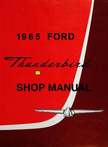 DEMO - 1965 Ford Thunderbird Shop Manual - ForelPublishing.com