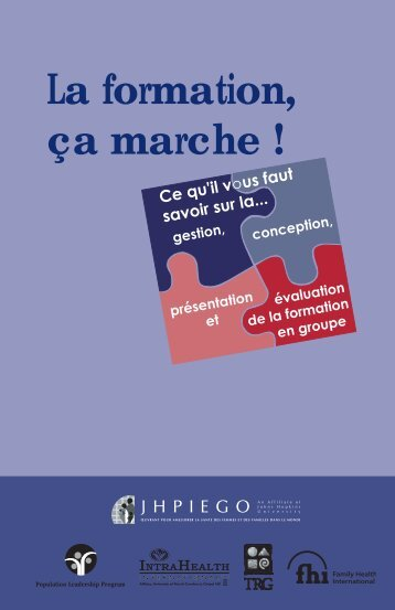 La formation, ça marche - IntraHealth International