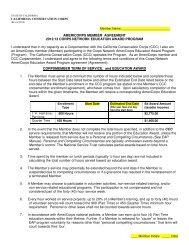 Member Contract - California Conservation Corps - State of California