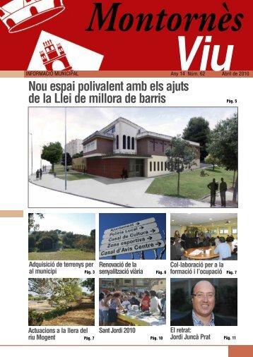 Abril - Ajuntament de Montornès del Vallès